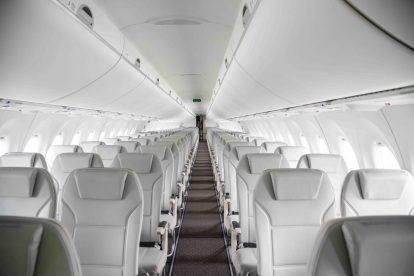 Interiér A220-300 pro airBaltic. Foto: Airbus