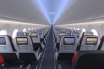 Interiér A220-300 pro Air Canada. Foto: Air Canada