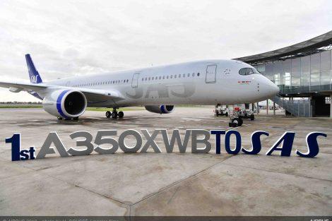 Předání první A350-900 pro SAS. Foto: Airbus