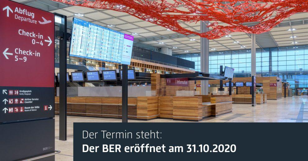 Interiér nového letiště Berlin Brandenburg International. Foto: Flughafen Berlin