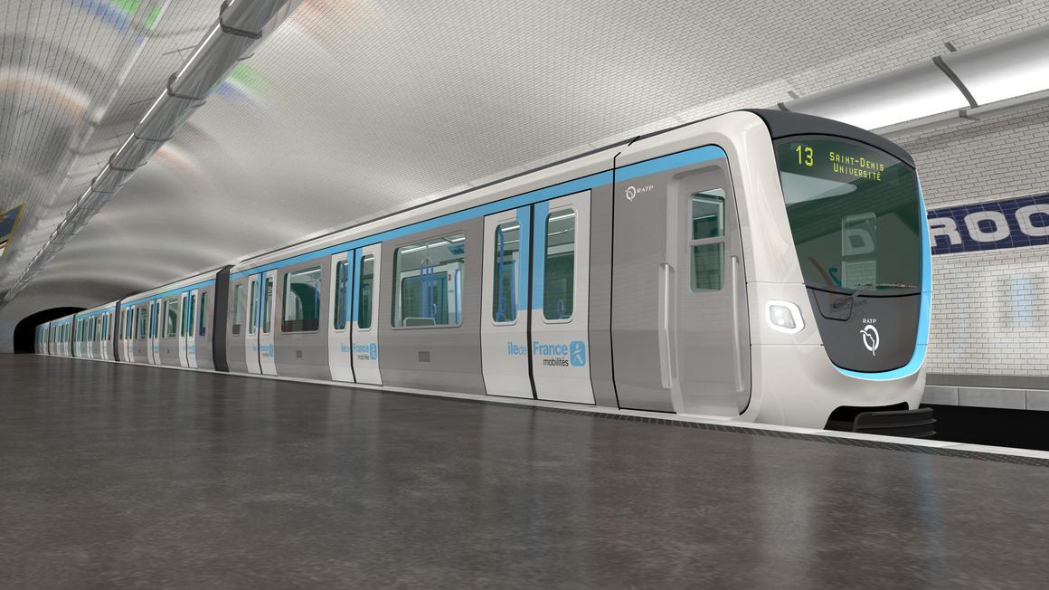 Nové vlaky pro pařížské metro, vizualizace. Pramen: Alstom