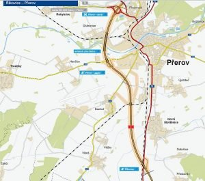 Budoucí D1 Říkovice - Přerov. Pramen: ŘSD