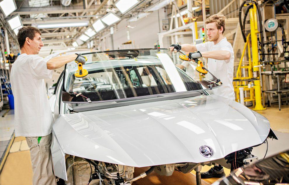 Sériová výroba nové generace vozu Škoda Octavia. Foto: Škoda Auto