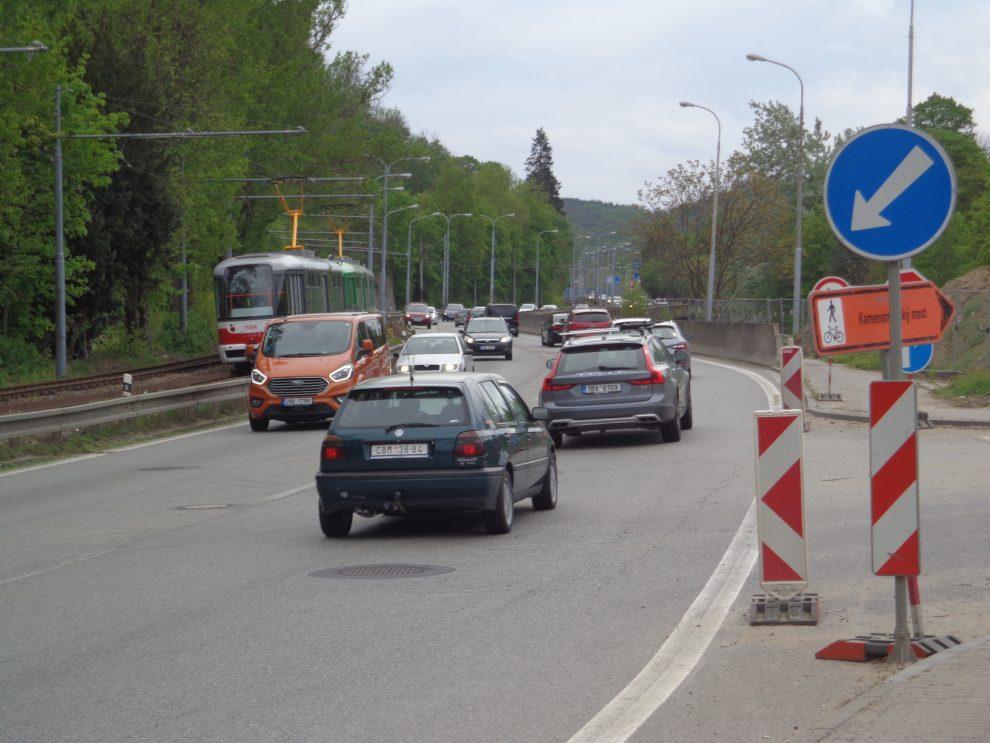Žabovřeská ulice v Brně. Pramen: ŘSD