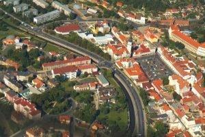 Silnice I/13 v Bílině. Foto: Město Bílina