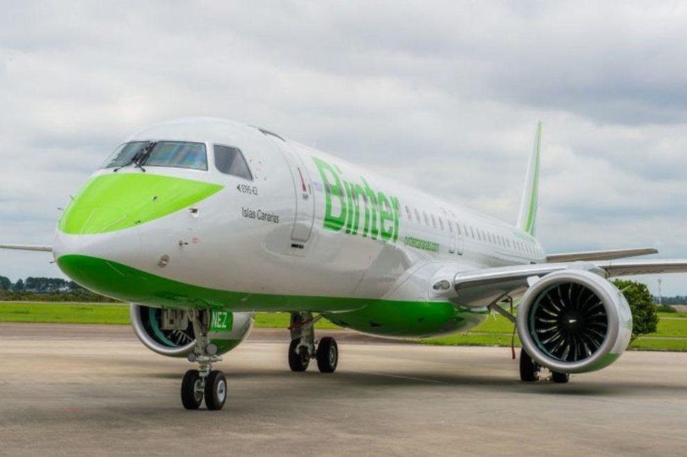 Embraer E195-E2 v barvách Binter Canarias. Foto: Embraer