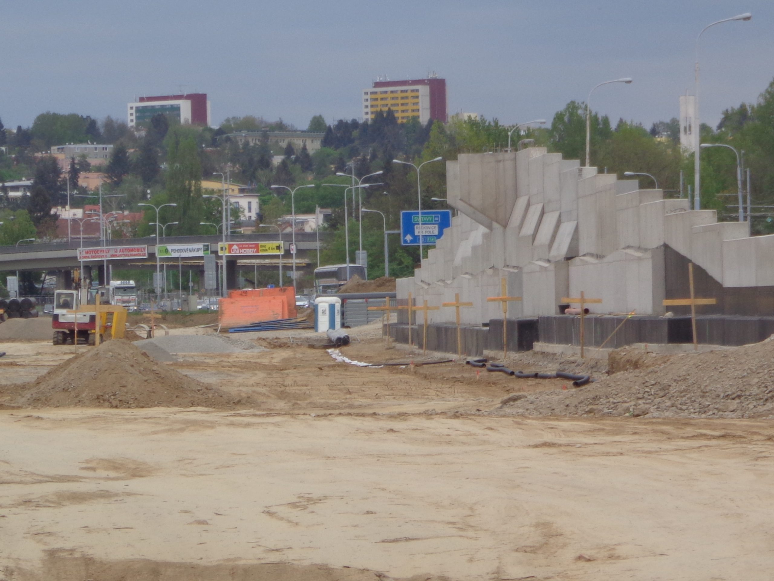 Stavba Velkého městského okruhu v Brně v úseku Žabovřeská I. Foto: ŘSD