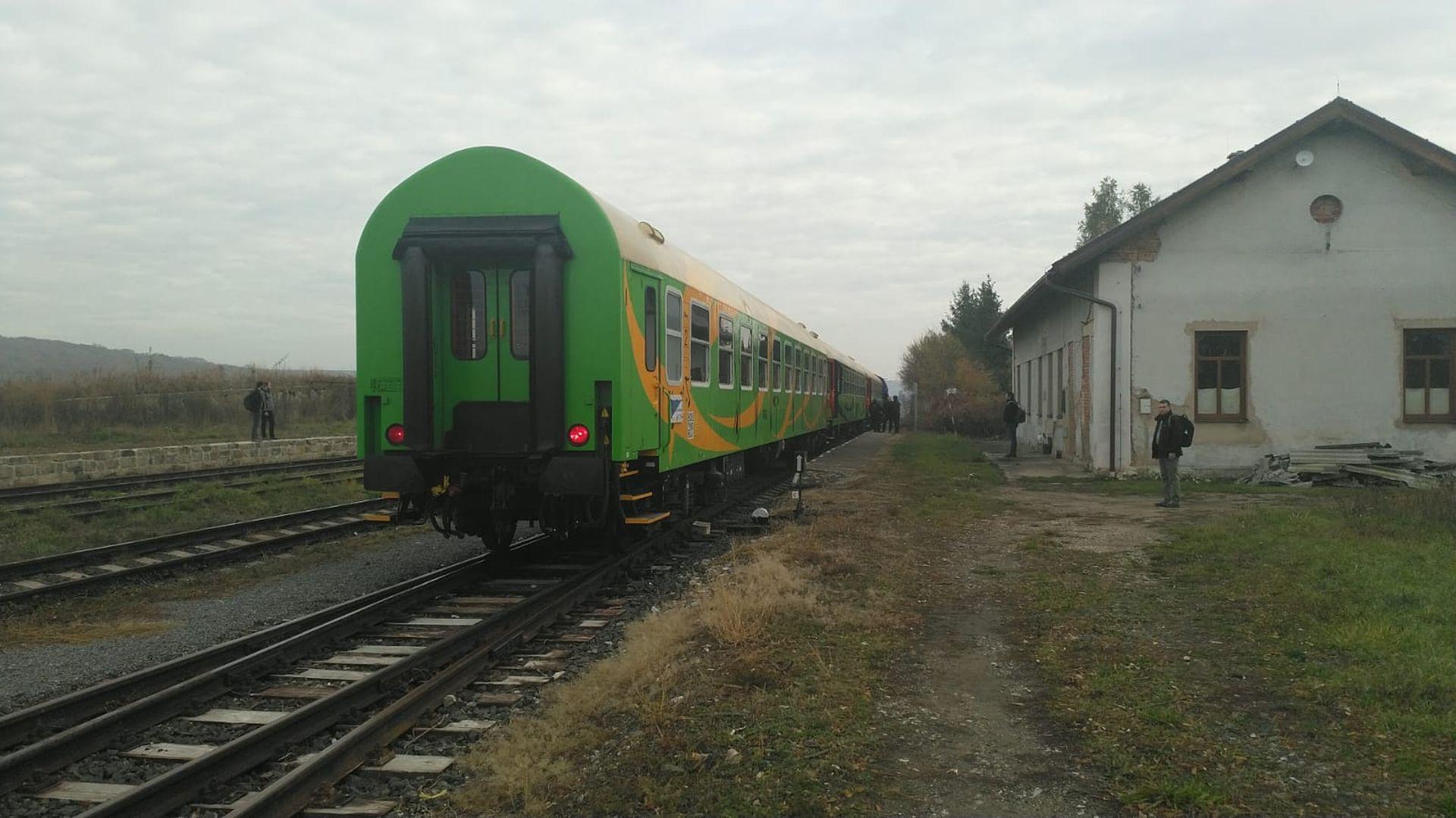 Železniční stanice Dětenice. Foto: Oldřich Sládek