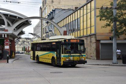 Trolejbus Škoda 14 TrE v Daytonu. Foto: Libor Hinčica