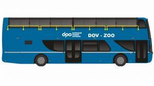 Vizualizace dvoupodlažního autobusu pro Ostravu. Foto: DPO