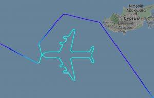 Průběh posledního letu Boeingu 747 v barvách El Al. Foto: Flightradar24.com