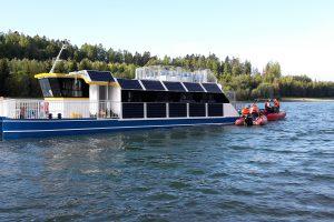 Elektrická loď Harta. Pramen: Slezskaharta.eu