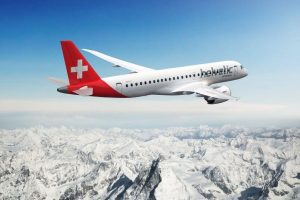Embraer E190-E2 v barvách Helvetic. Foto: Embraer
