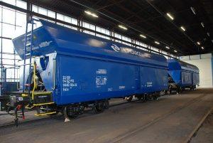 Nákladní vozy řady Falls v novém laku PKP Cargo International. Foto: PCI