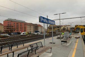 4. nástupiště v Praze - Vršovicích. Foto: SŽDC