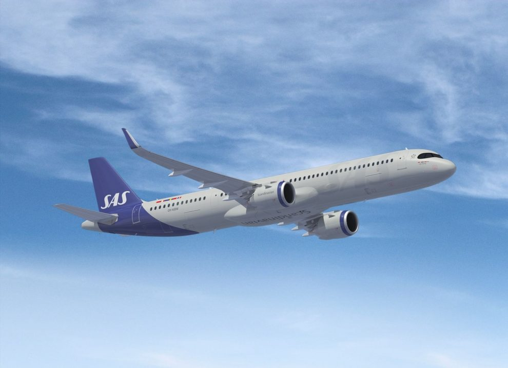 A321LR v barvách SAS. Foto: SAS