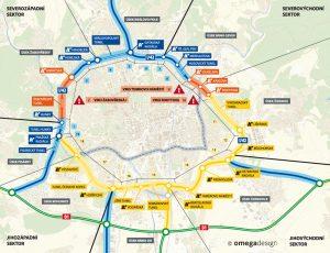 Kompletní trasa Velkého městského okruhu v Brně. Foto: ŘSD