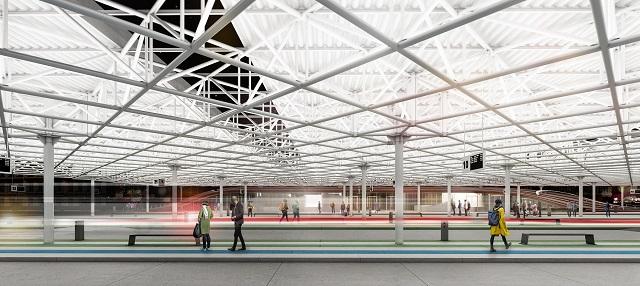 Vizualizace budoucí podoby autobusového nádraží Zvonařka. Foto: Chybík + Krištof