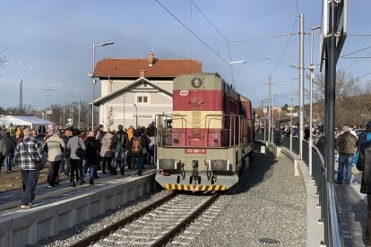 Železniční stanice Židlochovice. Foto: Juraj Kováč