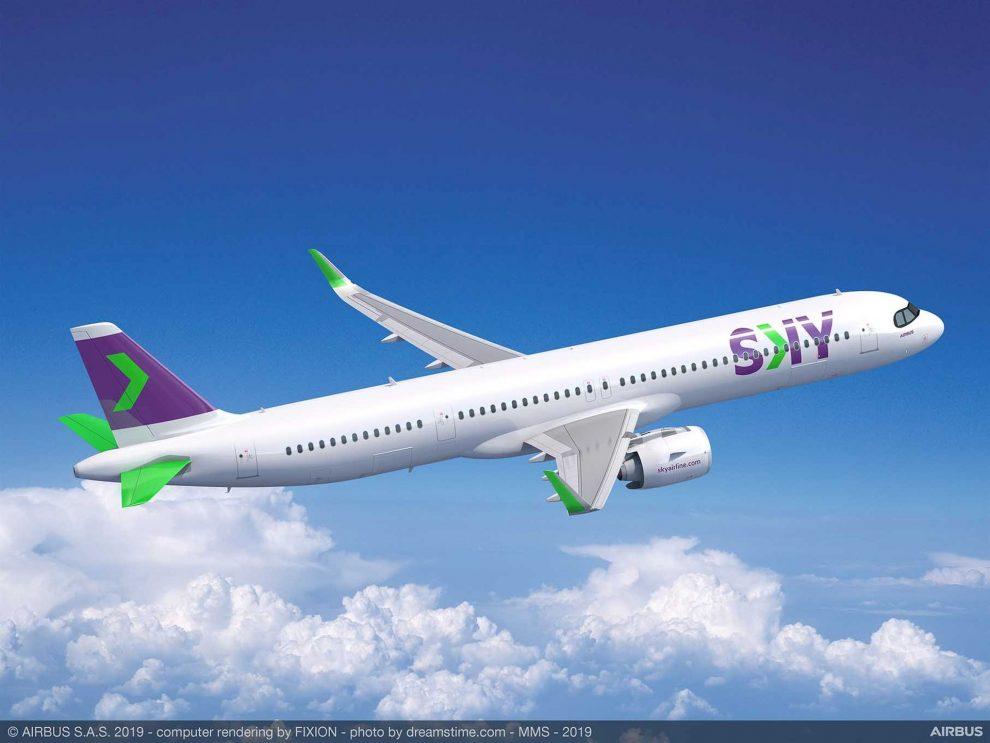 A321XLR v barvách společnosti Sky. Foto: Airbus