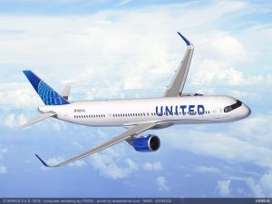 A321XLR v barvách United Airlines. Foto: Airbus