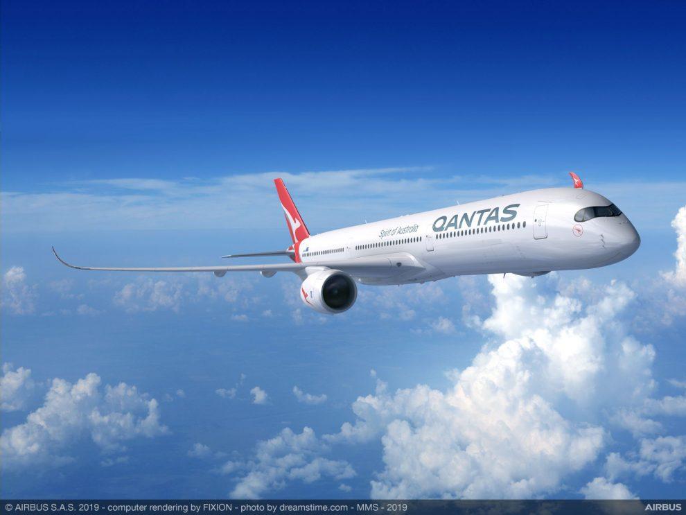 A350-1000 v barvách Qantas. Foto: Airbus