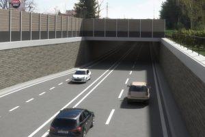 Vizualizace tunelu na I/3 v Benešově. Pramen: ŘSD