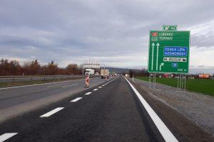 Rozšířená D10 u Mladé Boleslavi. Foto: ŘSD
