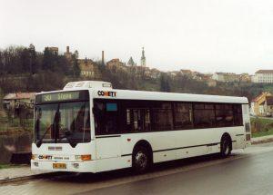 Ikarus 412 v roce 2001 v Táboře, dnes ve sbírce Milana Jiroše. Pramen: Archiv Milana Jiroše