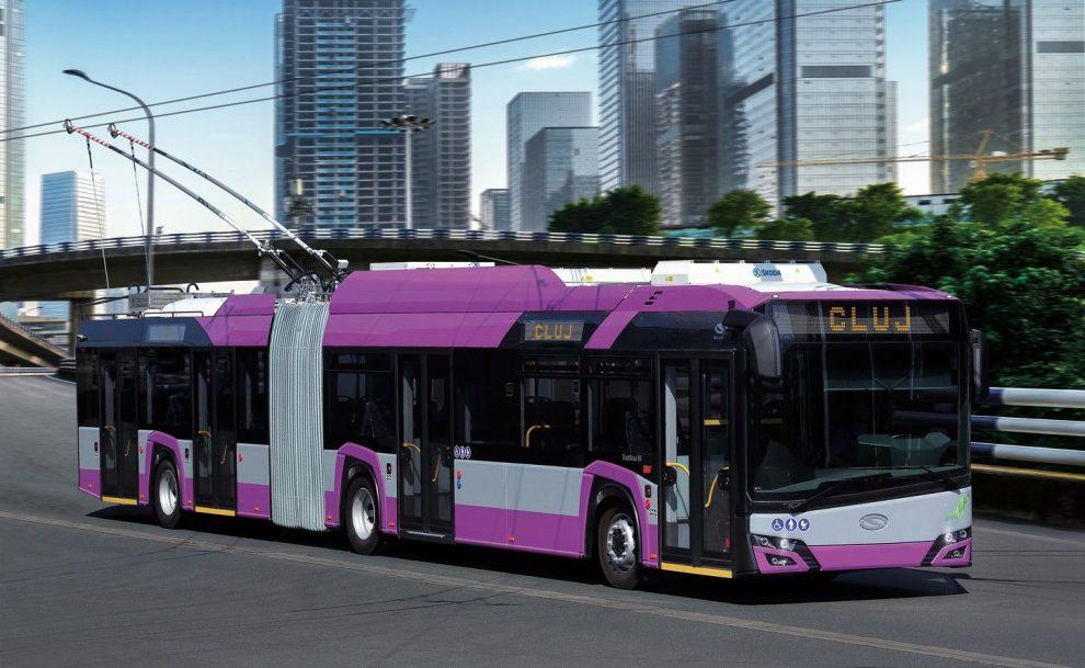 Trolejbus s výzbrojí Škoda pro Kluž. Pramen: Škoda Electric