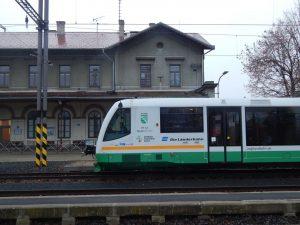 RegioSprinter společnosti Die Landerbahn v Žatci. Autor: Zdopravy.cz/Jan Šindelář