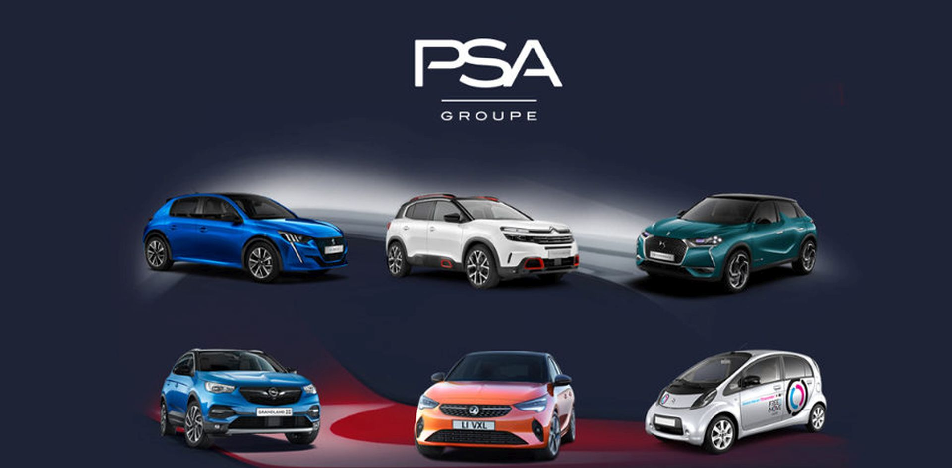 Vybraná vozidla značek patřících pod PSA. Foto: PSA