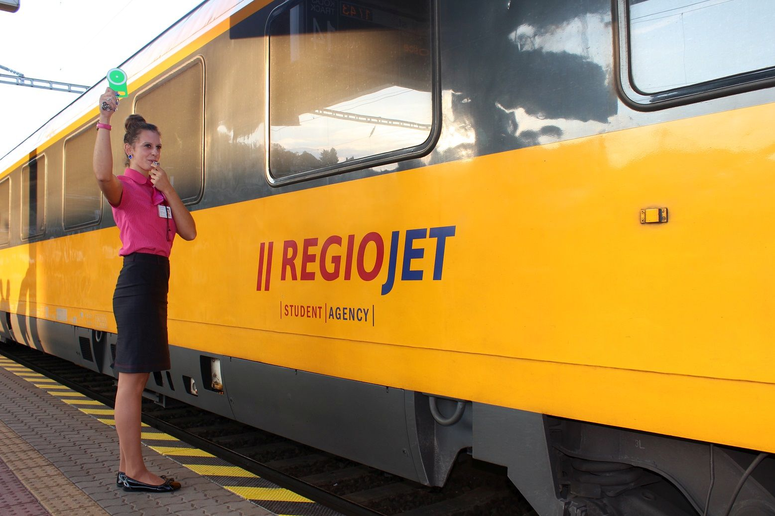 Vlak RegioJetu, ilustrační foto. Pramen: RegioJet