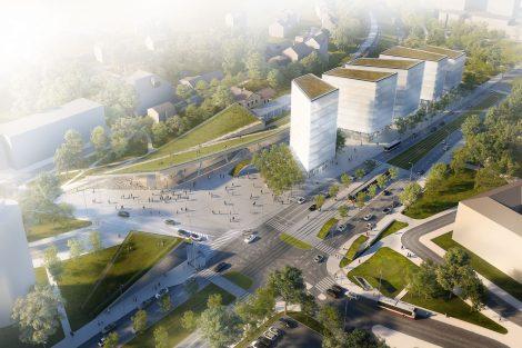 Budoucí podoba nádraží Praha-Veleslavín. Pramen: SŽDC