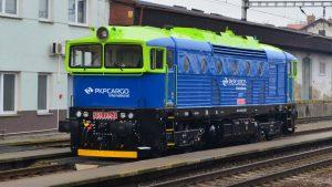 Brejlovec v nových barvách PKP Cargo International. Pramen: PKP Cargo Int.