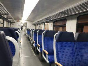 Interiér vlaku 628. Foto: Jan Sůra