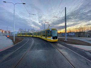 Tramvaj EVO2 na konečné na Borských polích. Foto: PMDP