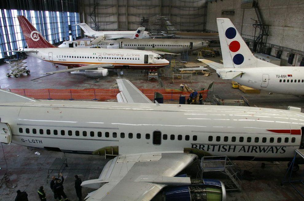 Údržba letadel v JAT Tehnika. Foto: JAT Tehnika