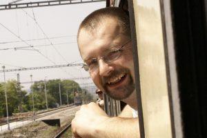 Pavel Peterka při jedné ze zvláštních jízd na Slovensko