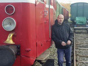 Radek Kubala ze Zubrnické museální železnice. Foto: Jan Sůra