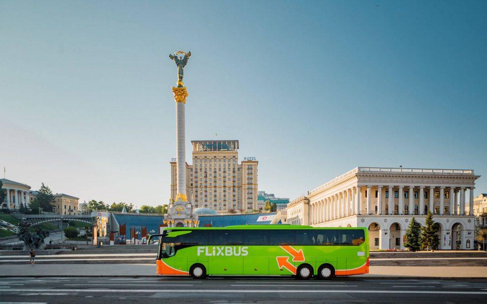 Autobus FlixBus v Kyjevě. Foto: FlixBus