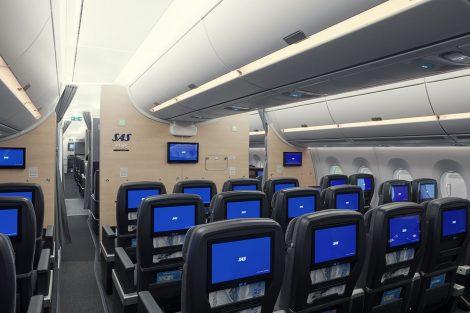 Třída SAS Plus v A350-900. Foto: SAS