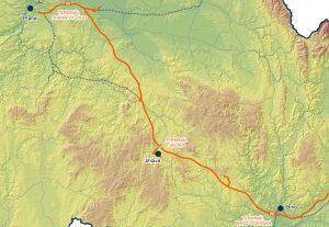 Severní trasa navrhované vysokorychlostní tratě Praha - Brno. Foto: SŽDC