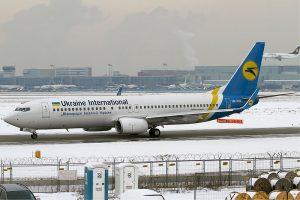 Boeing 737-800 společnosti Ukraine International Airways. Foto: Konstantin von Wedelstaedt / Wikimedia Commons