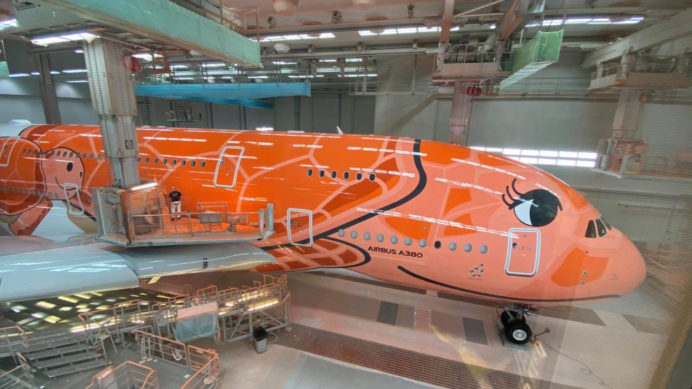 A380 pro All Nippon Airways. Foto: ikarosairline / twitter