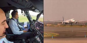 První vzlet Airbusu A350-1000, který řídí počítač. Piloti jen přihlíží. Foto: Airbus