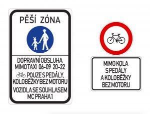 Návrh značící zákaz vjezdu elektrokoloběžek. Foto: Praha 1