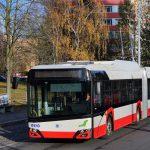Trolejbus 27Tr v Ústí nad Labem. Pramen: FB Dopravního podniku ÚnL