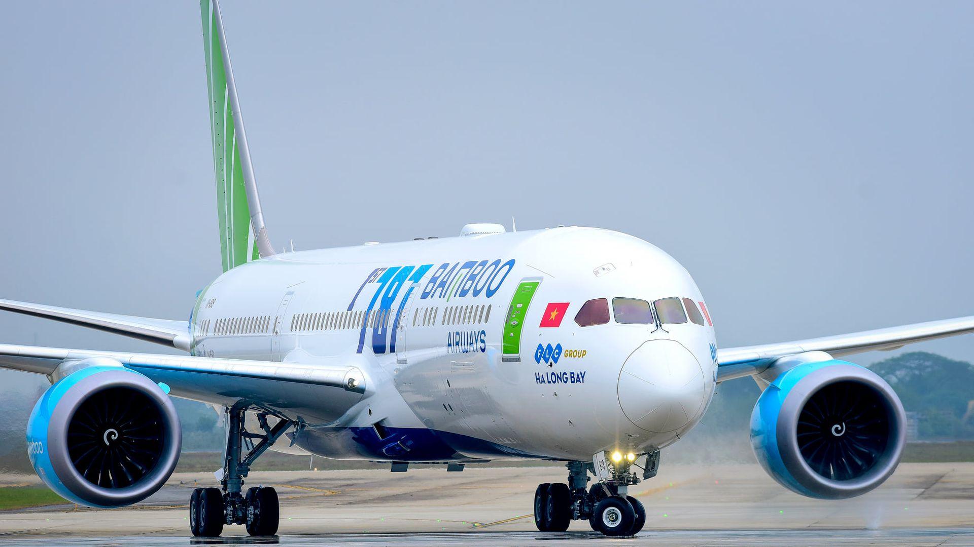 Boeing 787-9 v barvách Bamboo Airways. Foto: Bamboo Airways