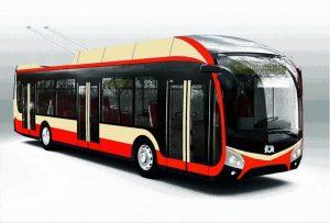 Barevné schéma trolejbusu 32 Tr pro Dopravní podnik města Jihlavy. Foto: DPMJ